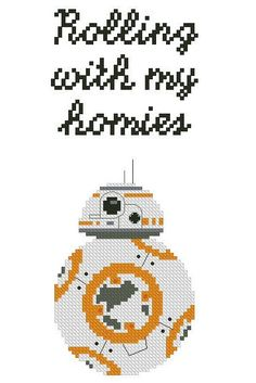 BB-8 cross stitch pattern