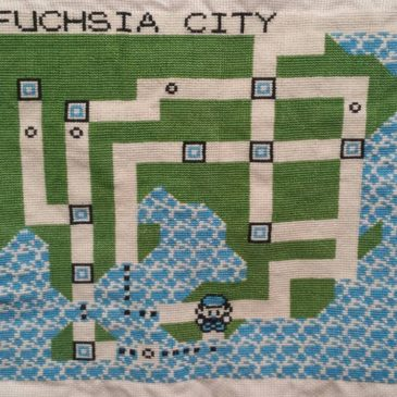 Cross Stitched Kanto Map