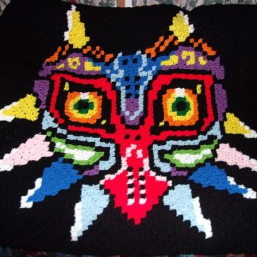 Majora's Mask Crochet Blanket