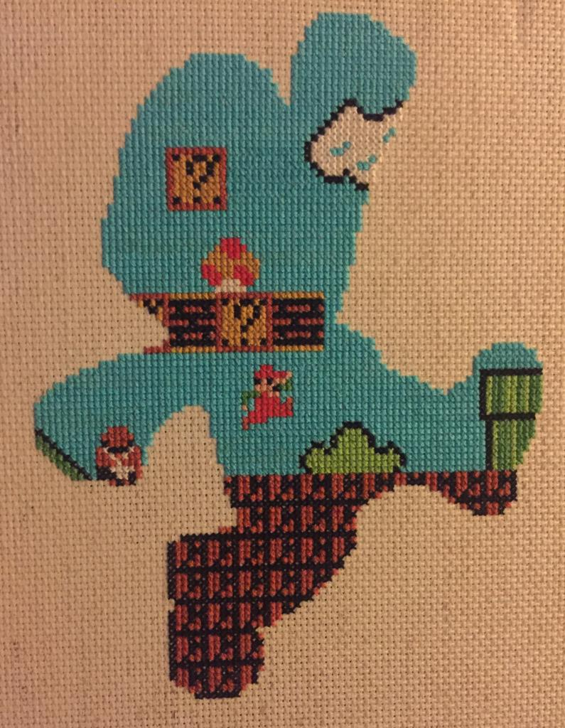 Mario Silhouette Stitch by down_the_hatch