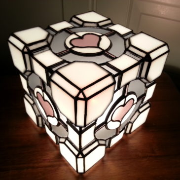 Stained Glass Lamps ~ CL4P-TP and Companion Cube