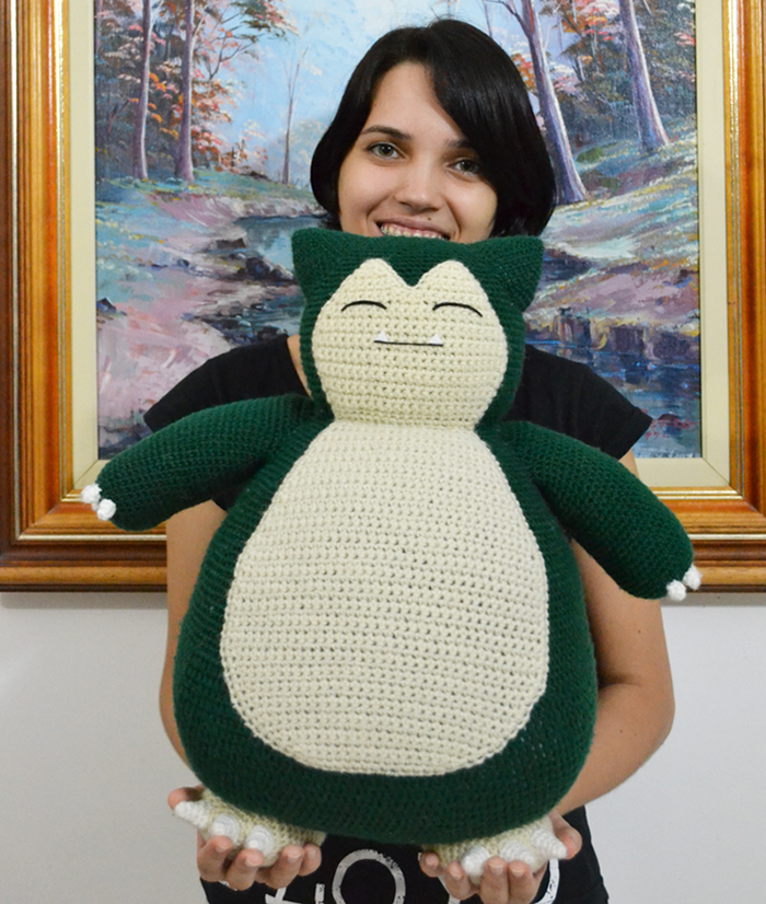 "Snorlax and Trainer ""MiaHandcrafter"""