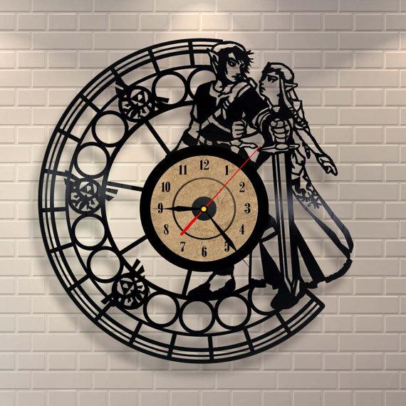 Zelda Vinyl Clock