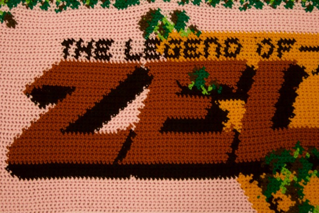 Amigurumi Zelda Pattern : Legend of zelda title screen blanket sprite stitch