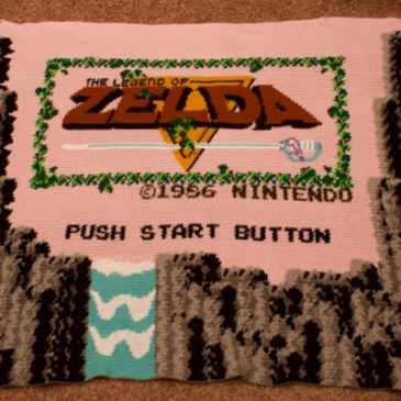 Legend of Zelda Title Screen Blanket