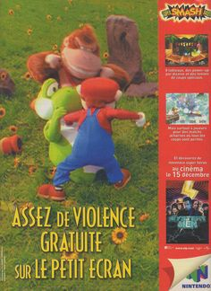 Super Smash Brothers Nintendo N64 French ad