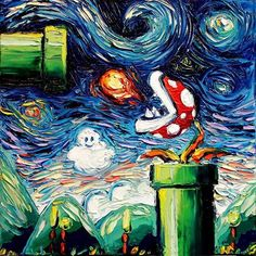 Starry Night Mario Van Gogh