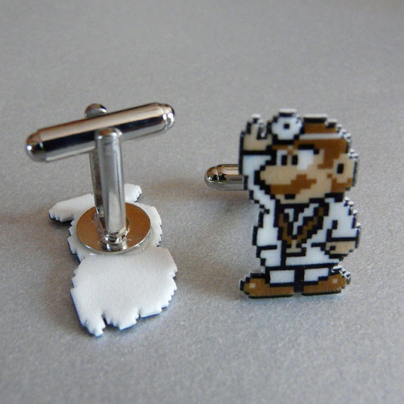 Dr Mario cufflinks by pixelparty
