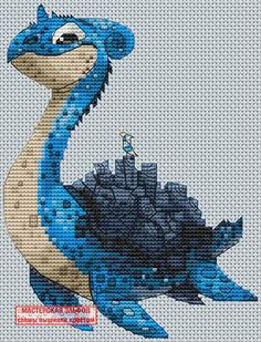 Lapras Pokémon Cross Stitch Pattern